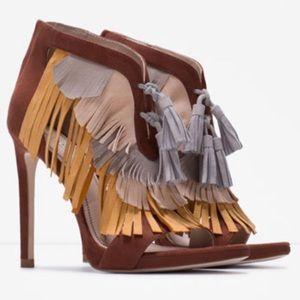 Zara Fringe Sandals